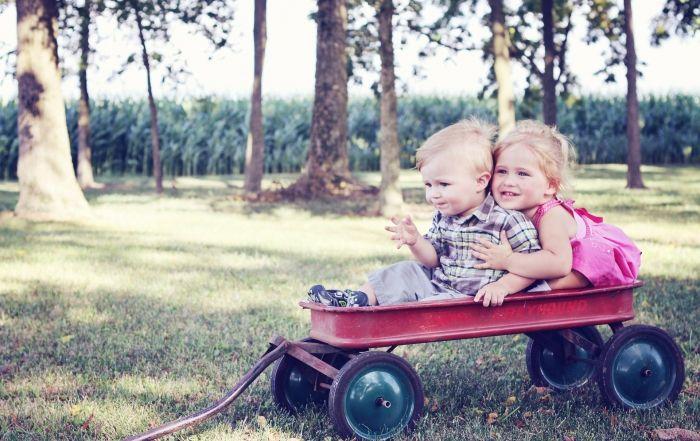 niños carrito