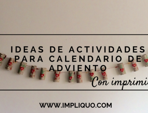 Ideas de actividades para calendario de Adviento (con imprimible)