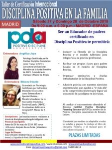 MADRID, Certificación Internacional Disciplina Positiva en las familias @ Total Weare Chamartin | Madrid | Comunidad de Madrid | España