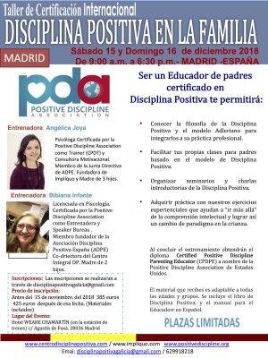 talleres disciplina positiva madrid