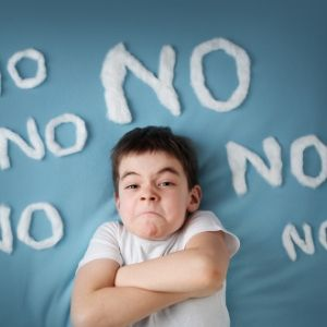 niños que dicen no todo el tiempo